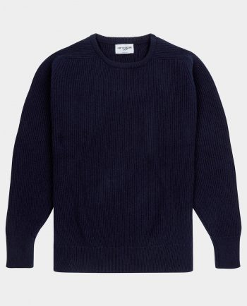 Last of England Fisherman Rib Navy Jumper