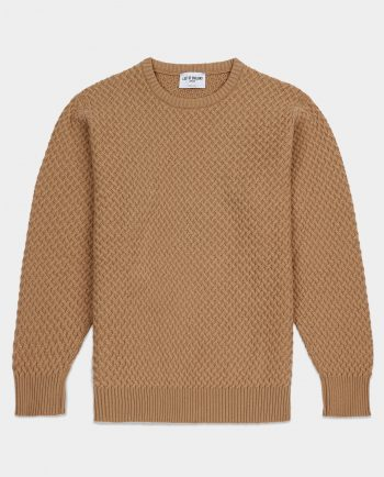 Last of England Basket Weave Camel Jumper