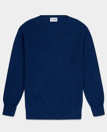 Last of England Moss Stitch Midnight Blue Jumper