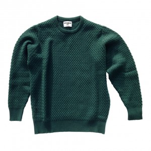 Cashmere jumper in Holly Green