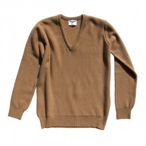 Honeycomb stitch 100% cashmere in camel