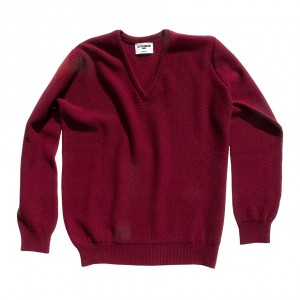 Honeycomb stitch 100% cashmere in bordeaux
