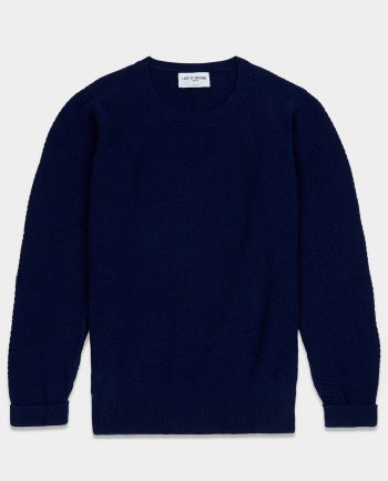 Last of England Moss Stitch Navy Jumper
