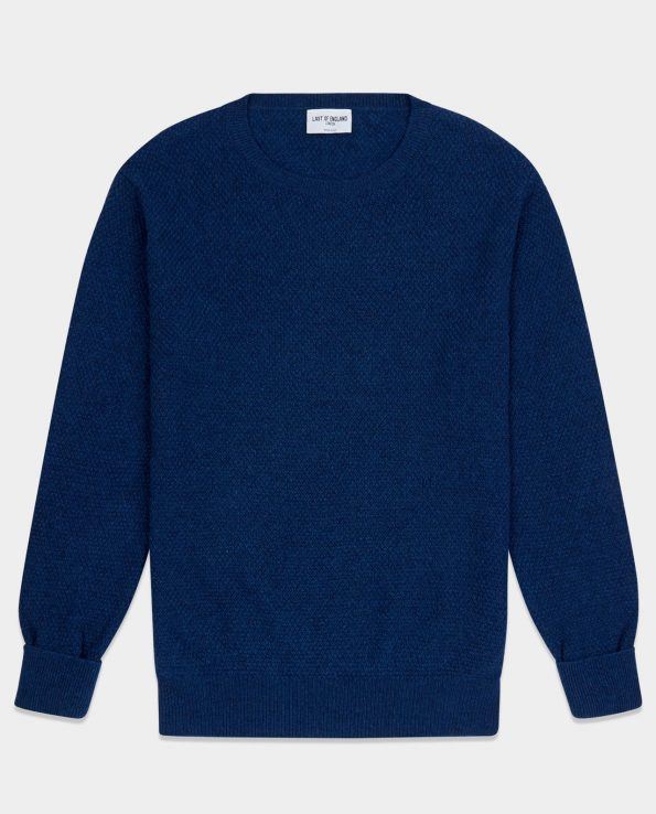 Moss Stitch Mid Blue