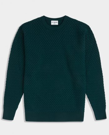 Last of England Basket Weave Holy Greenl Jumper