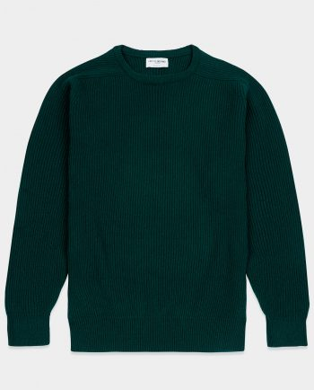 Last of England Fisherman Holy Green Jumper