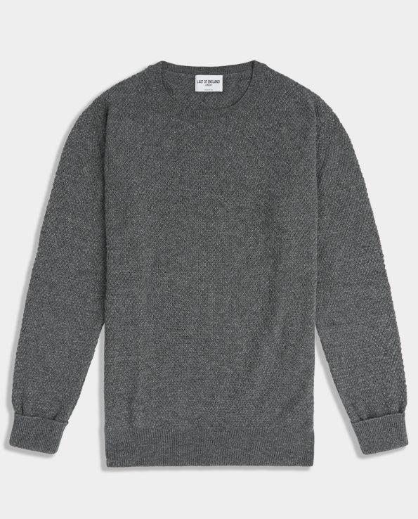 Moss Stitch Mid Grey