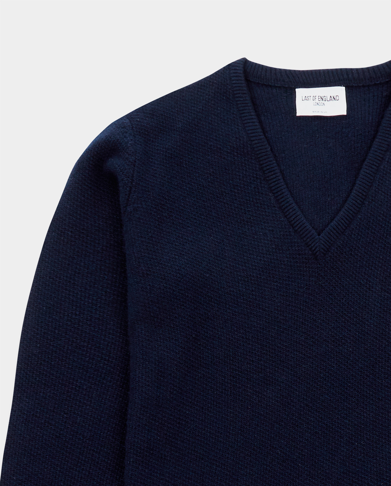 Last of England Honeycomb Stitch Navy Jumper