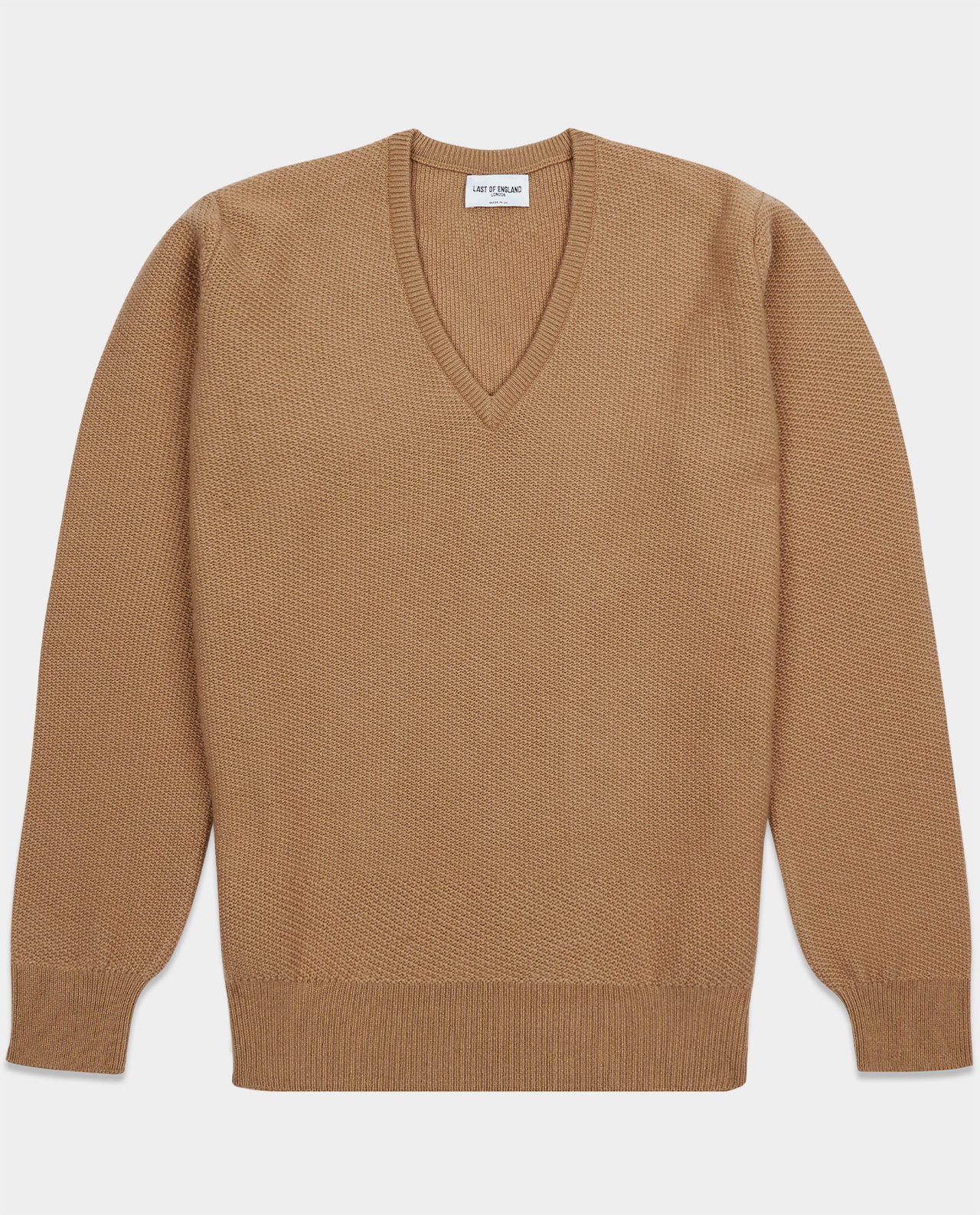 Last of England Honeycomb Stitch Camel Jumper