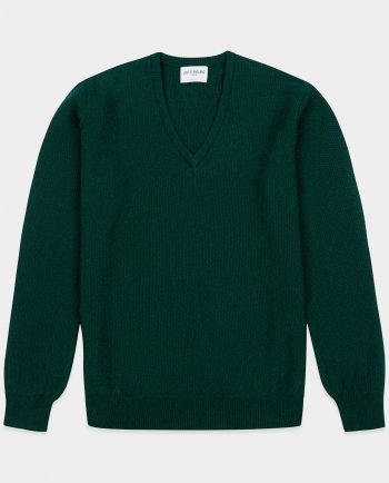 Last of England Honeycomb Stitch Green Jumper