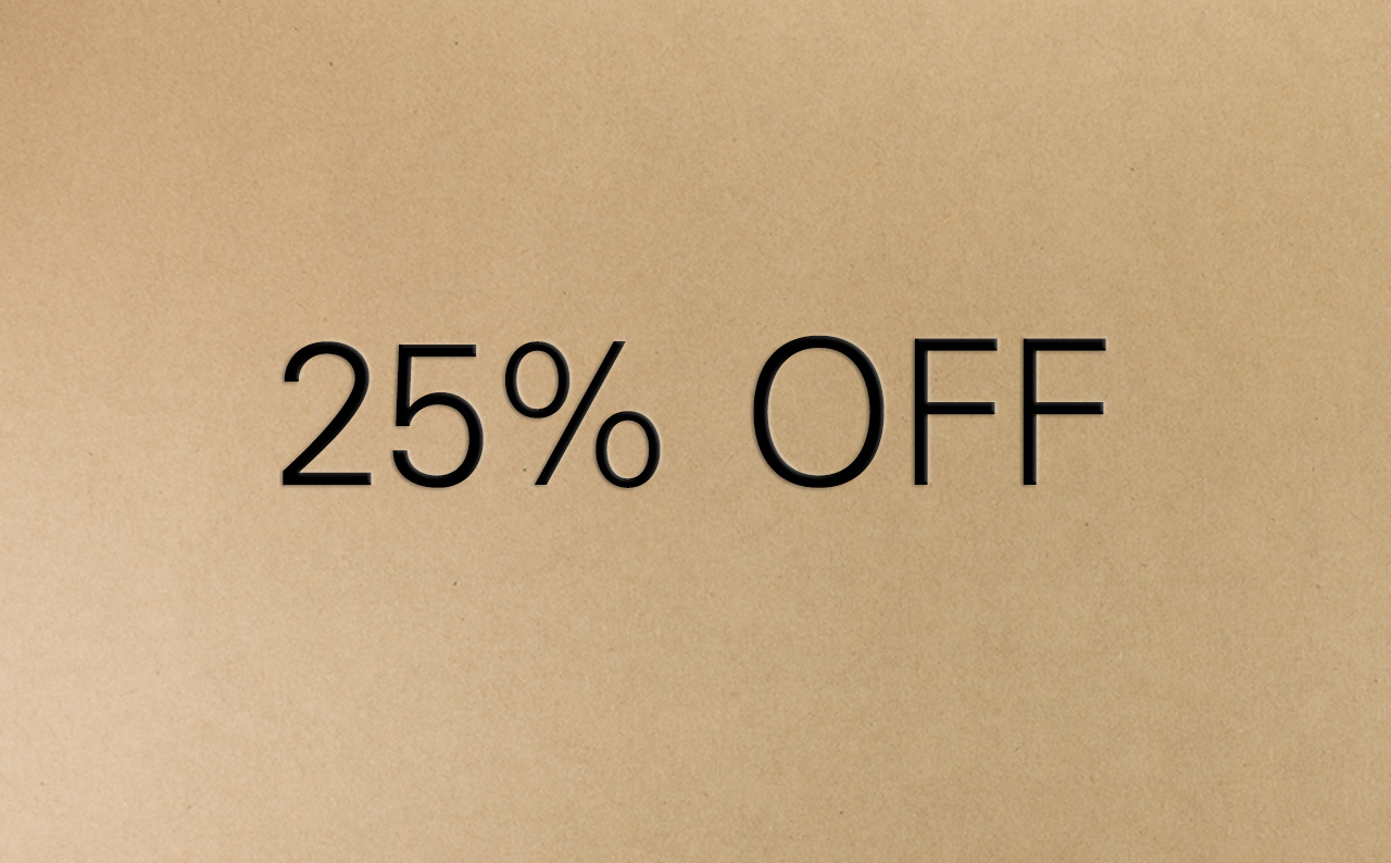 25 Percent Off Voucher