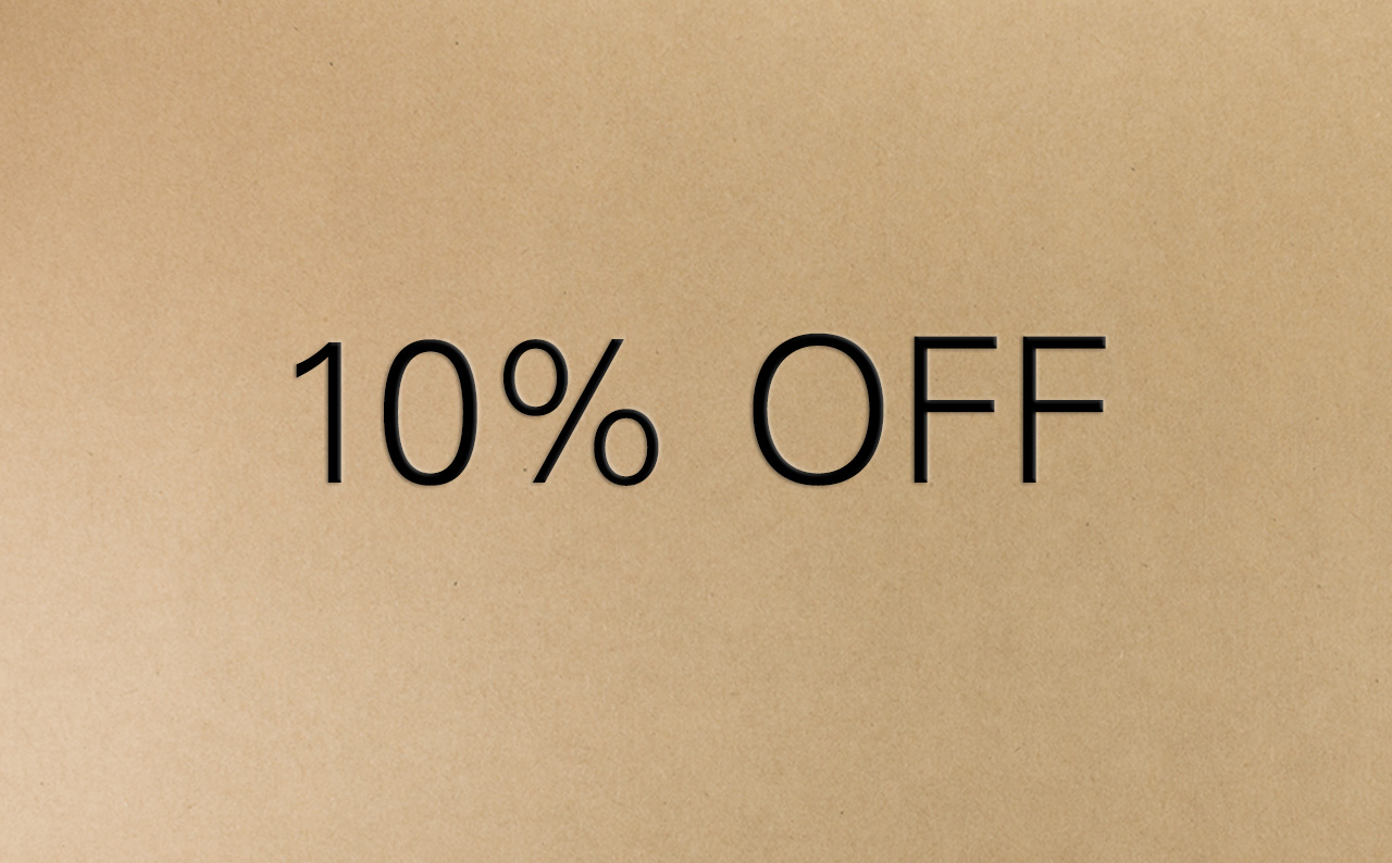 10 Percent Off Voucher