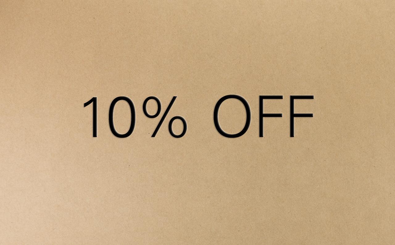 10 Percent Off Voucher