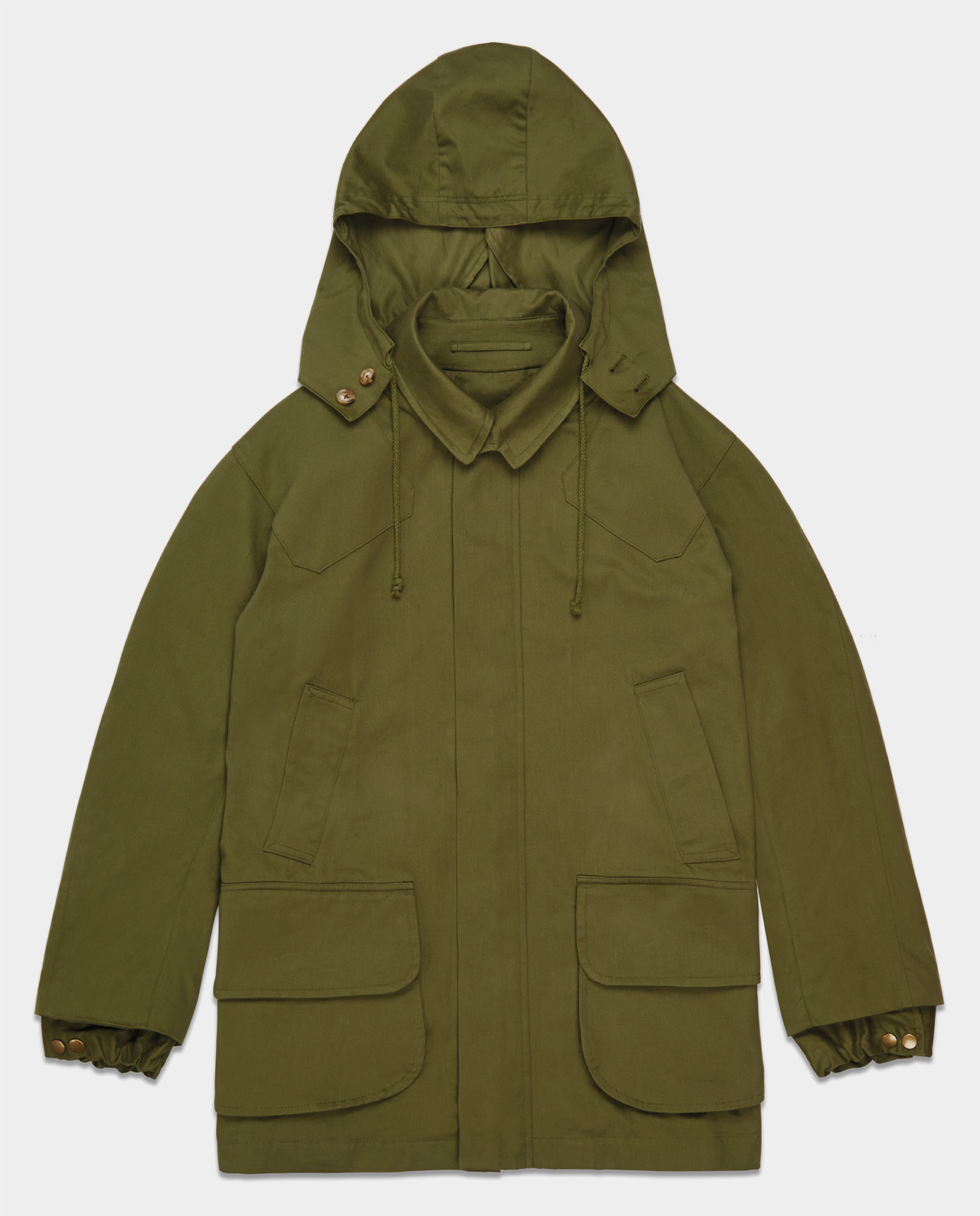 Last of England Field Coat Green Brisbane Moss