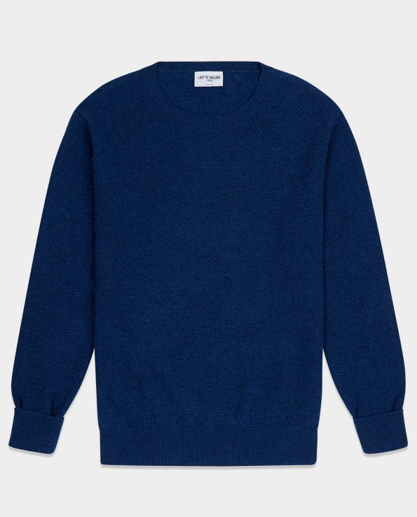 Moss Stitch Inchiostro Blue